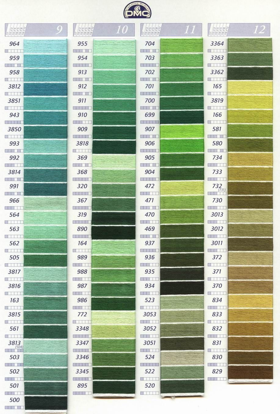 color(3) | Z - Various | Pinterest | Cross stitch thread, Dmc floss ...