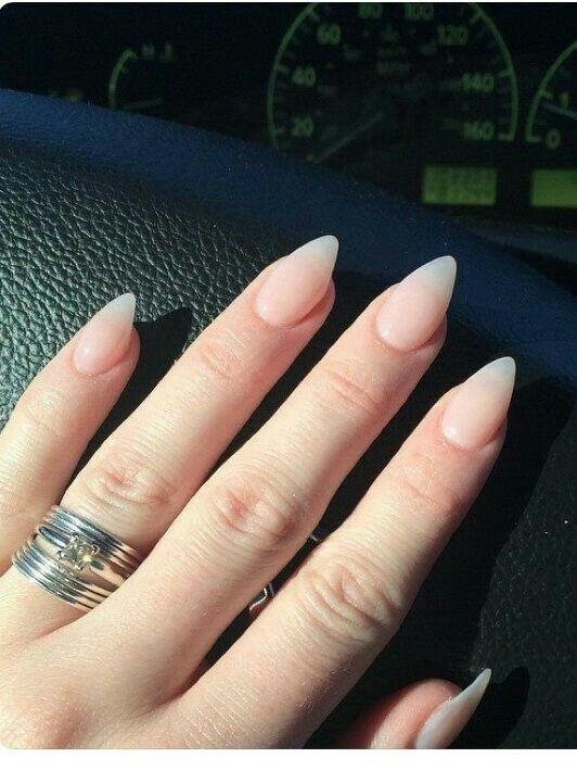 Natural Nails And Ring Inspiring Ladies Pointy Nails Pointed Nails Claw Nails