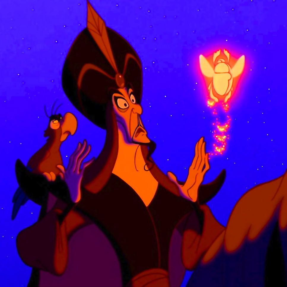 Image result for aladdin 1992 jafar and iago first scene