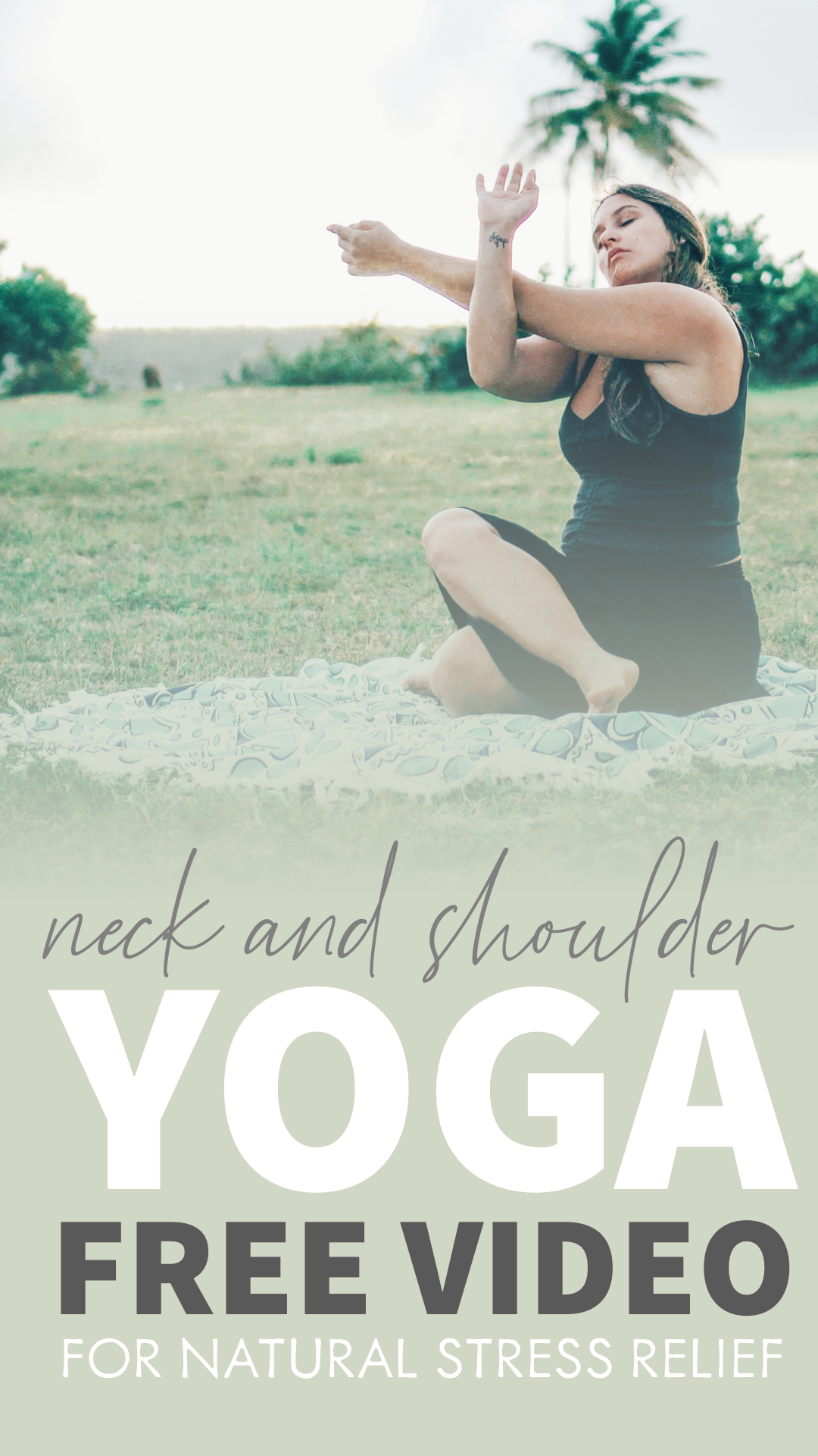 FREE YOGA VIDEO |  Yoga for Neck and Shoulder Tension. Each posture is seated and can be done from t...