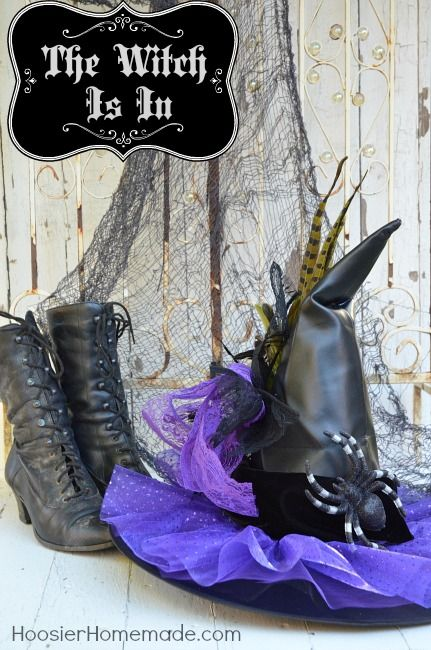 Jazz Up Your Plain Old Witches Hat Diy Decorated Witches Hat With Images Witch Costume Diy Witch Diy Witch Hat Diy