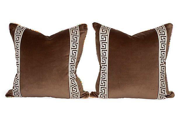 Popsicle Zebra Drawing Pillows, Pair on OneKingsLane.com