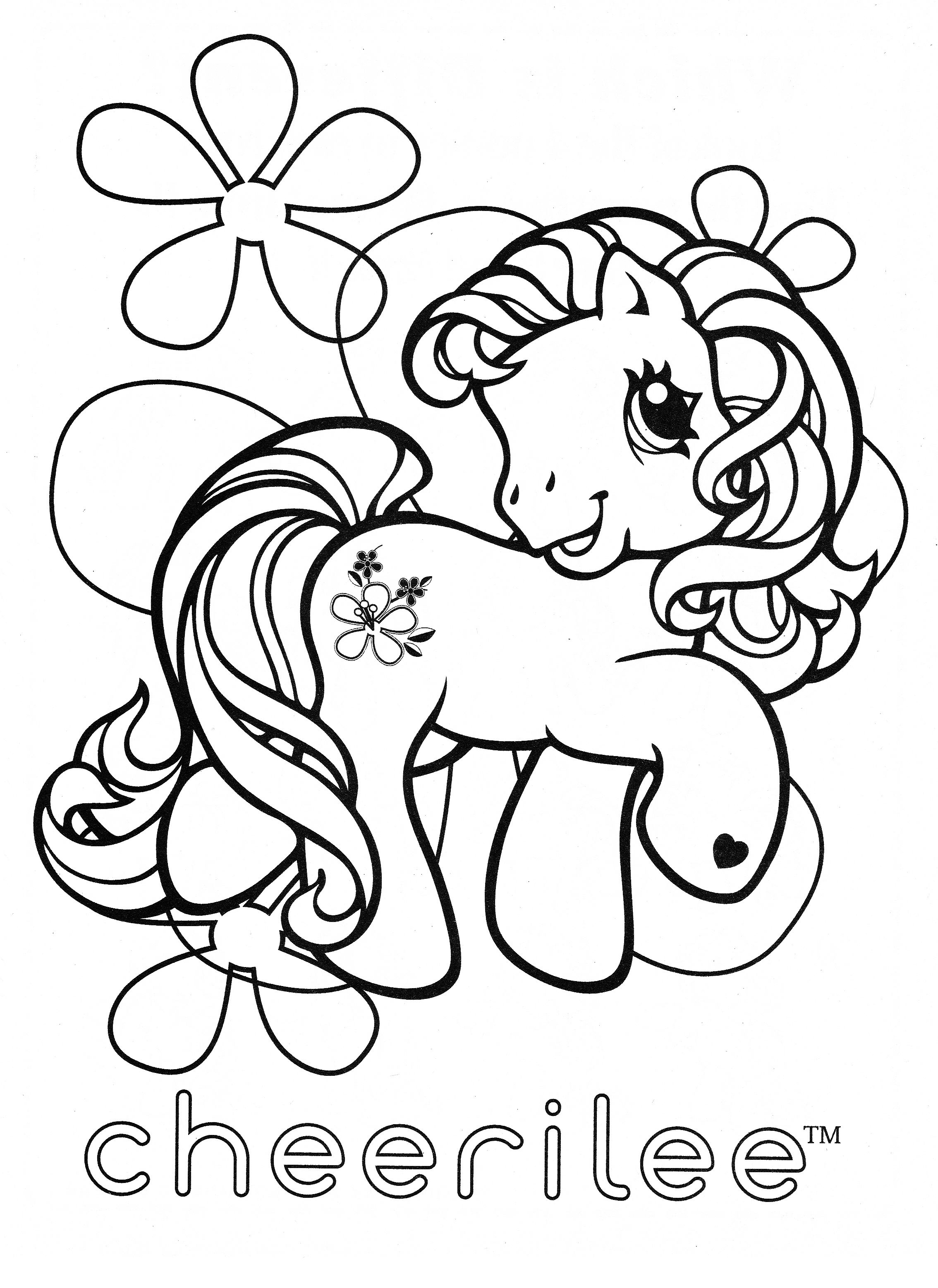 My Little Pony Valentine Coloring Pages : My little pony coloring page mlp cheerilee