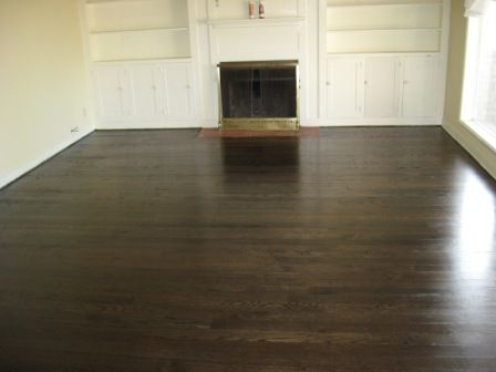 Pet Stains Damage To Hardwood Floors Corrected With Dark