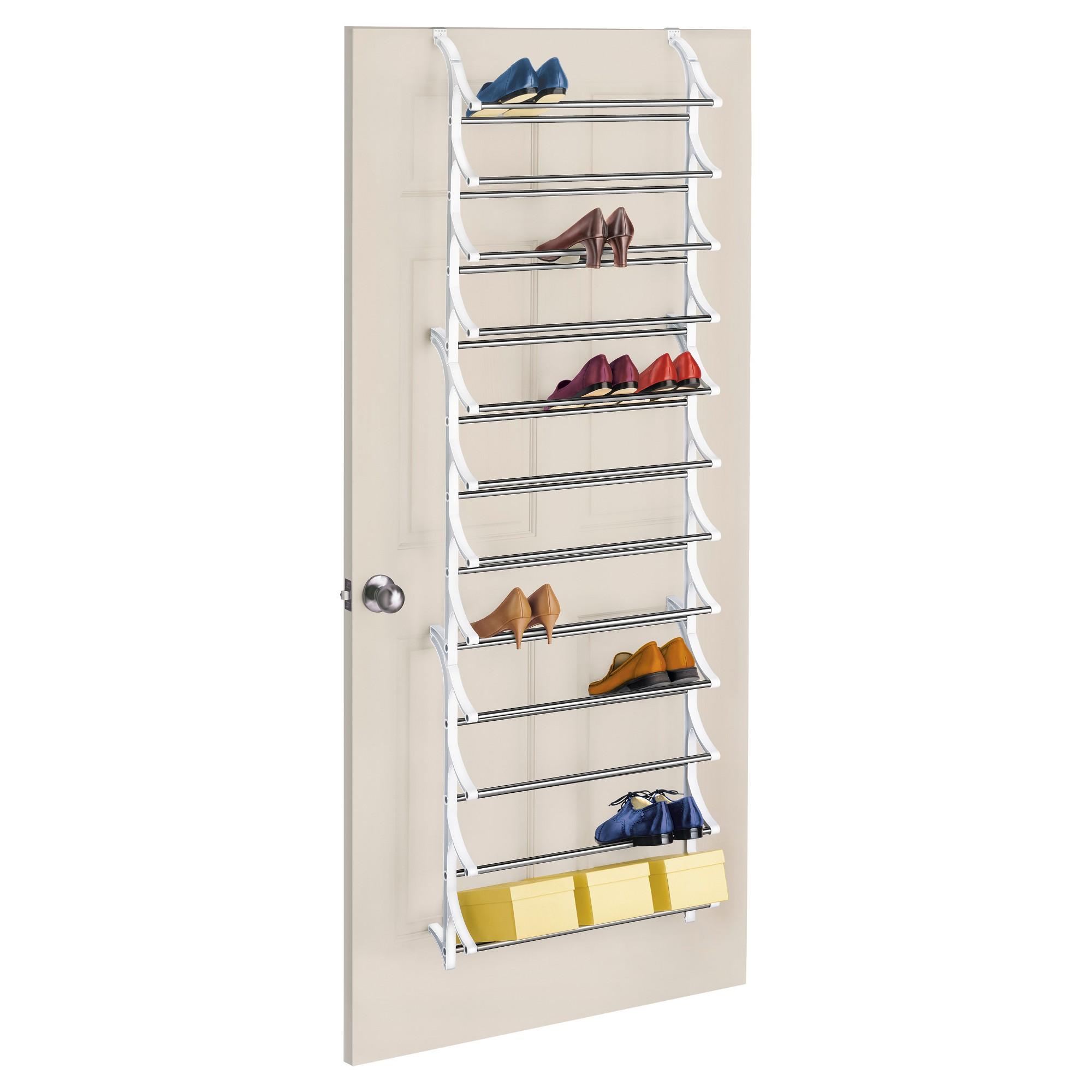 Lynk 36 Pair Over Door Shoe Rack White Over Door Shoe Rack Shoe Rack Organization Diy Shoe Rack
