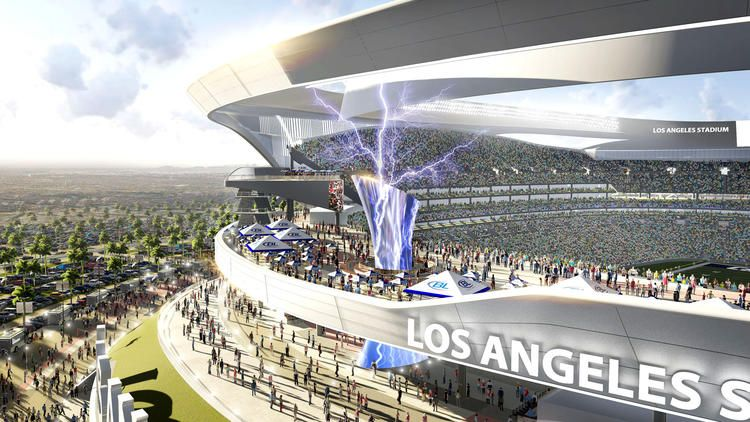 Chargers And Raiders Overhaul Design For Potential L A Stadium San Diego Chargers Stadium Nfl Stadiums