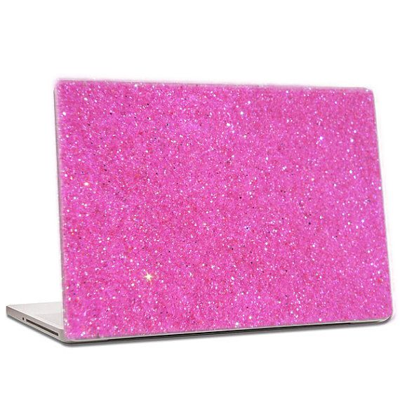 Bubblegum Pink Glitter Laptop Skin extra fine by IridescentBeauty, $40.00 - Love! Glamorous and affordable.
