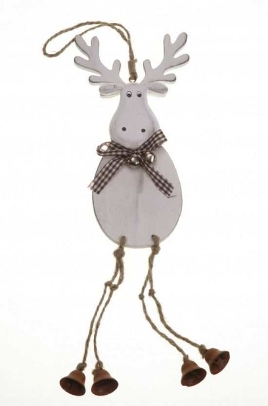 Hanging Wooden Moose with Bell Legs Holiday Crafts Pinterest