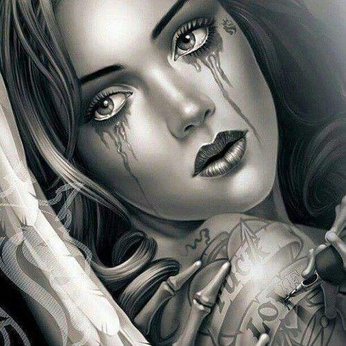 Imagen De Broken Heart Sadness And Tears Og Abel Art Chicano