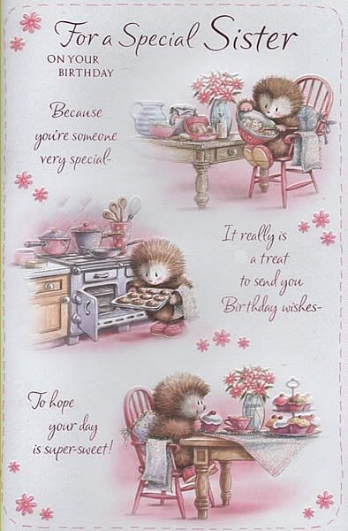 Birthday Cards Female Relation Sister For A Special On Your