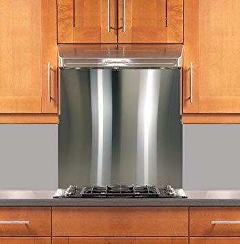 Interior Design Stainless Steel Backsplash Contemporary Com 30 X 36 304 4 Hemmed Edge With Regard To 2