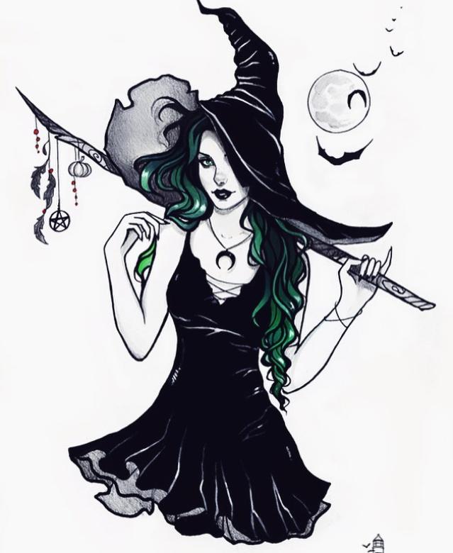 Картинки нарисованных ведьм