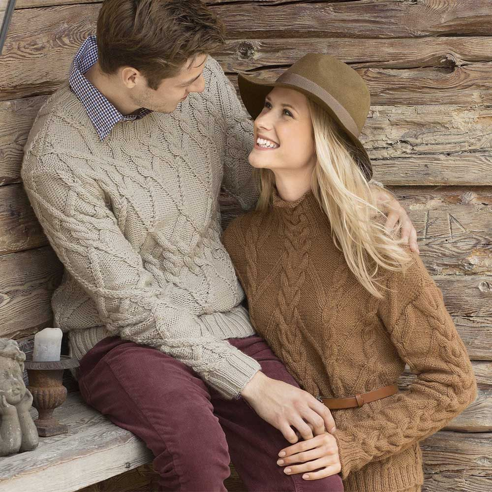 схема свитер спицами женский с аранами