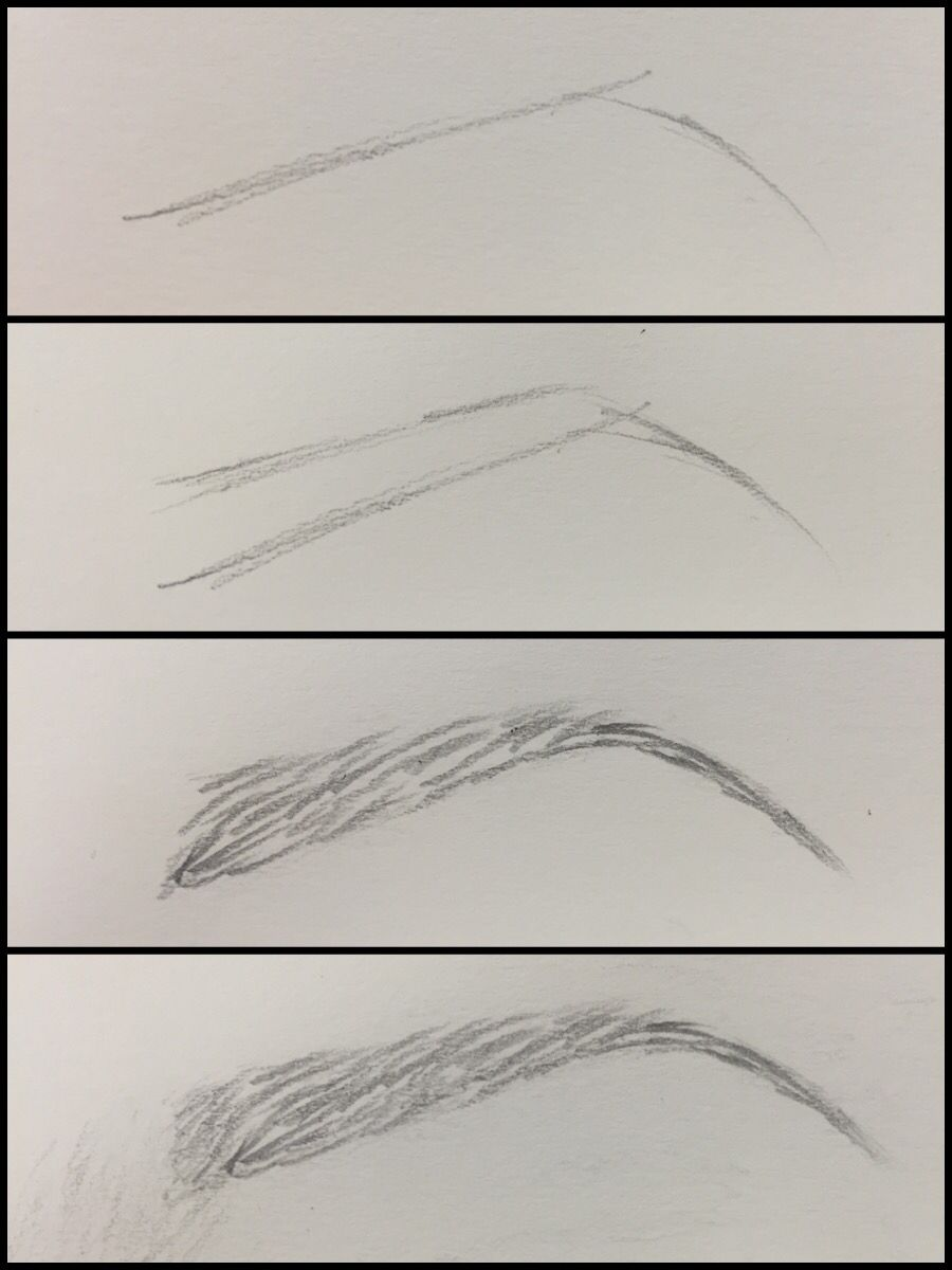 Eyebrow drawing tutorial art pinterest drawings for Drawing eyebrows on paper