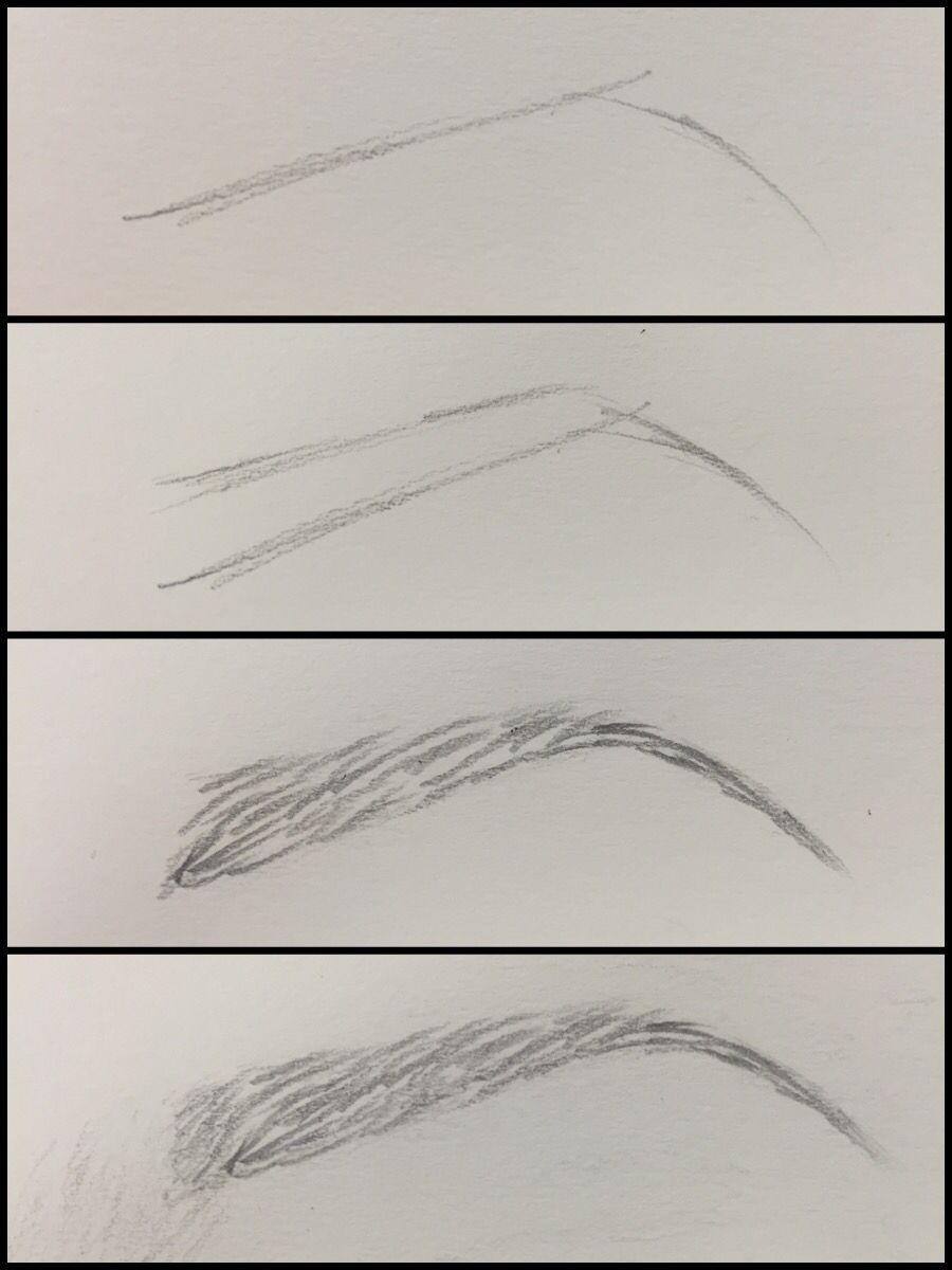 Картинки как поэтапно рисовать брови