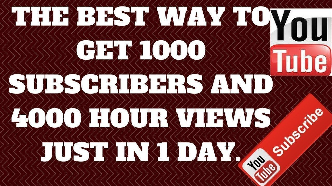 100 Get FREE 1000 YouTube Subscribers daily Youtube