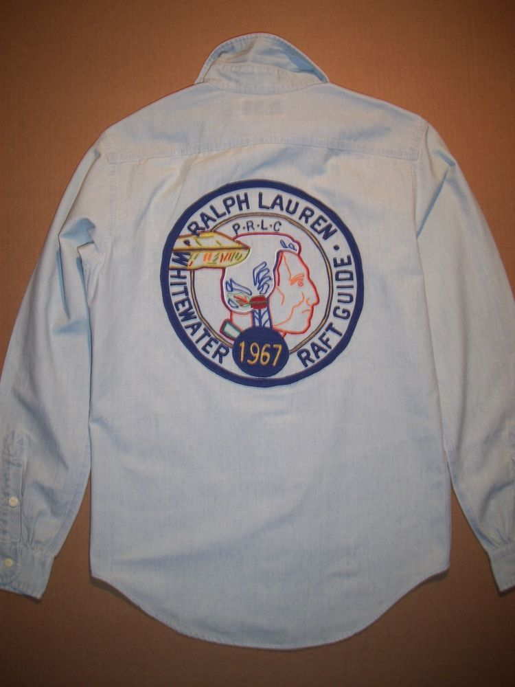 e4e1300b504 NWT s Polo Ralph Lauren Chambray Indian Head Guide Shirt LAST SIZE LARGE L   PoloRalphLauren  ButtonFront