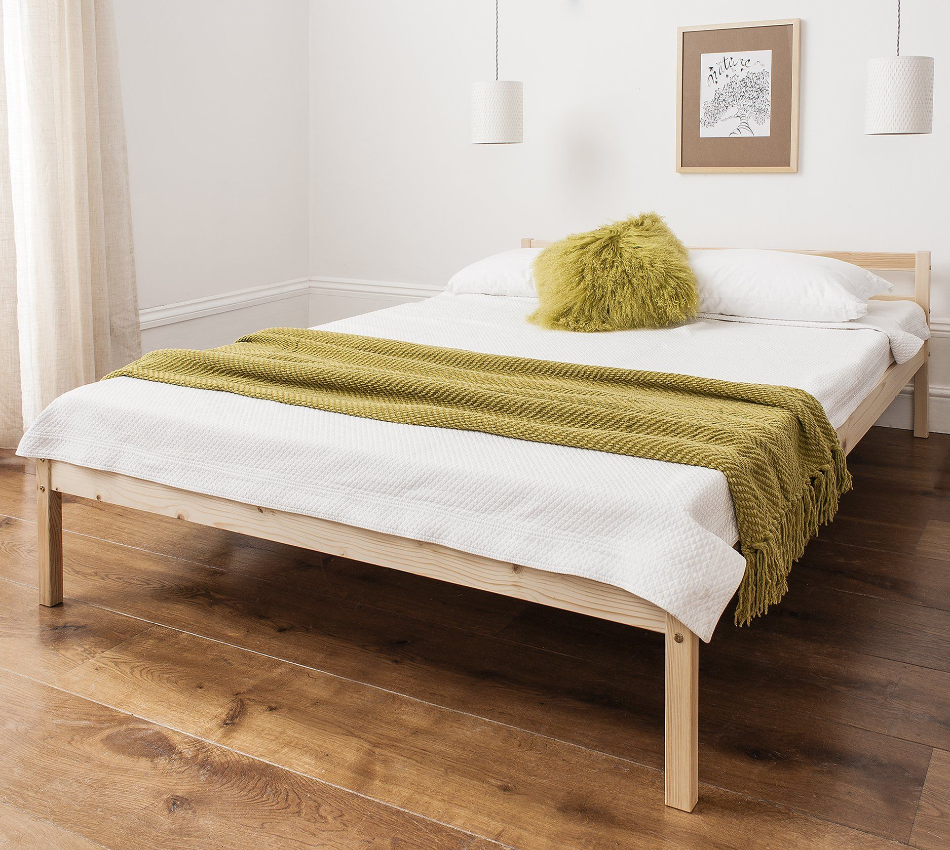 60 Double Bed Pine 4 6 Double Bed Wooden Frame Sussex Amazon Co - Garden Furniture Clearance Company Dorset