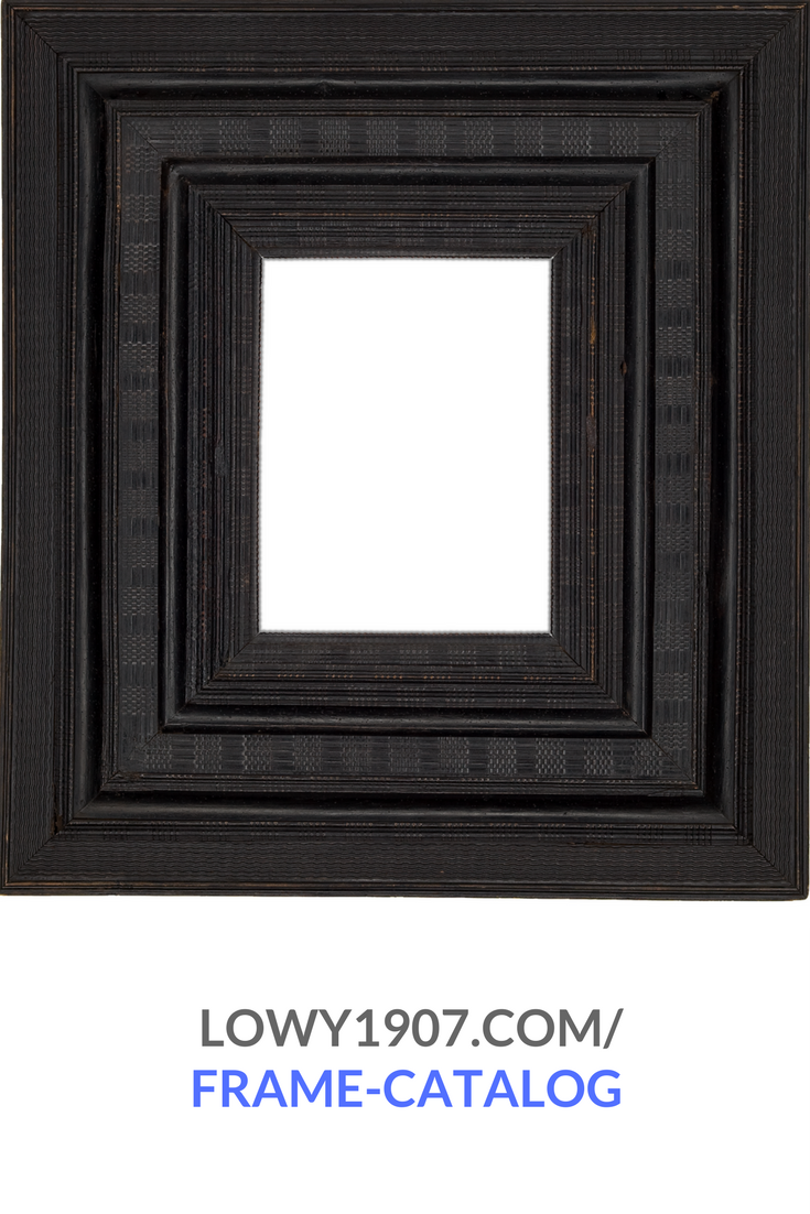 From The Lowy Antique Frame Catalog Dutch Carved And Ebonized Frame With Various Ripple And Basketweave Moldings Mid 17th Centu Antique Frames Frame Antiques