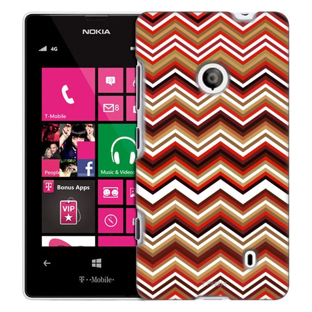 Nokia Lumia 521 Retro Brown Chevrons White Slim Case
