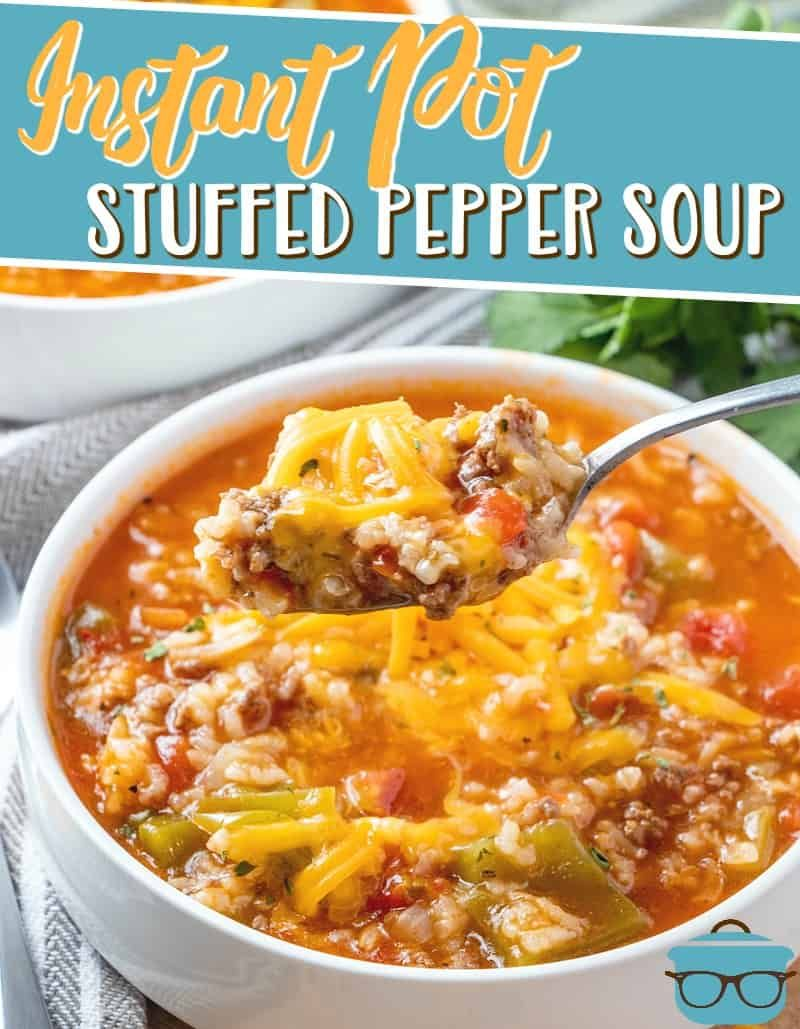 Instant Pot Stuffed Pepper Soup Video The Country Cook Recipe In 2020 Stuffed Peppers Instant Pot Dinner Recipes Stuffed Pepper Soup