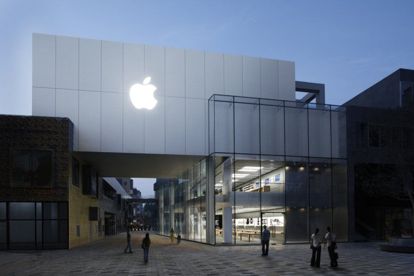 The 11 Most Beautiful Apple Stores In The World ファサード