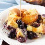 Make Ahead Breakfast Casserole: Blueberry French Toast #breakfastcasserolemakeahead