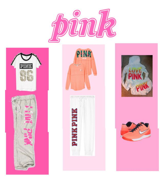 """PINK Sweats"" by hiddenbae ❤ liked on Polyvore featuring Victoria's Secret, La Senza and NIKE"