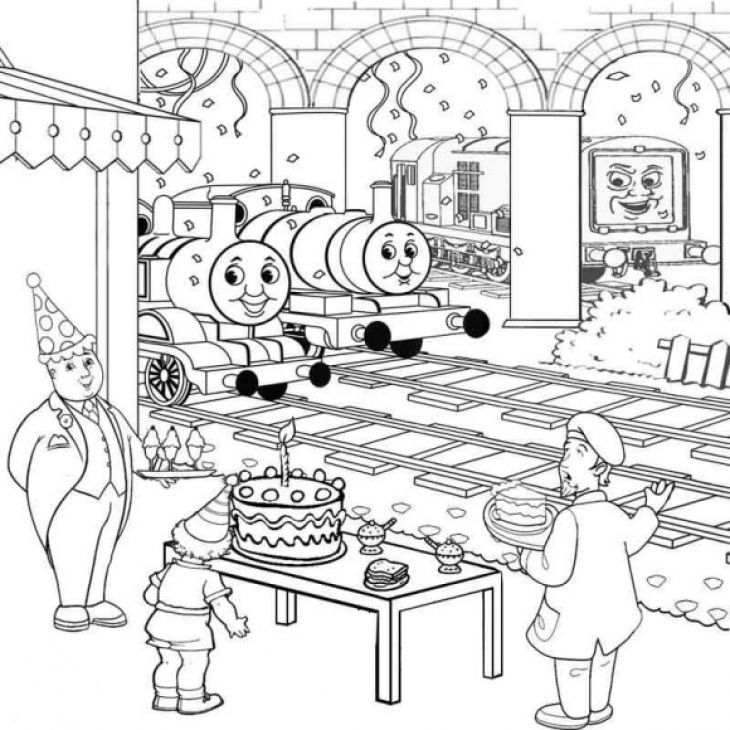 Best Related of Happy Birthday Thomas the Train Coloring Pages - copy coloring pages printable trains