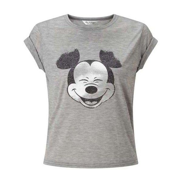 Mickey Tee (130 BRL) ❤ liked on Polyvore featuring tops, t-shirts and miss selfridge