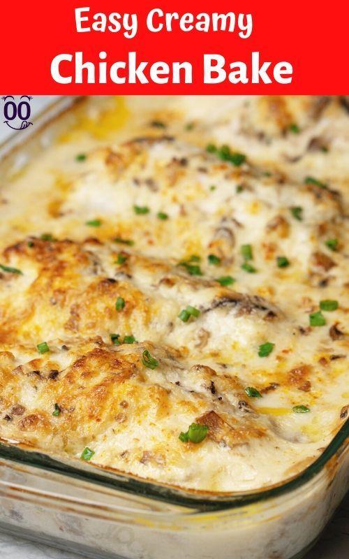 Creamy Chicken Bake Recipe - {100KRecipes}