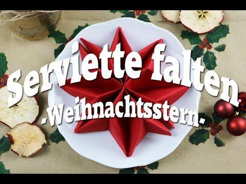 Anleitung: Servietten falten für Weihnachten - Sterne, Engel & Co - Talu.de