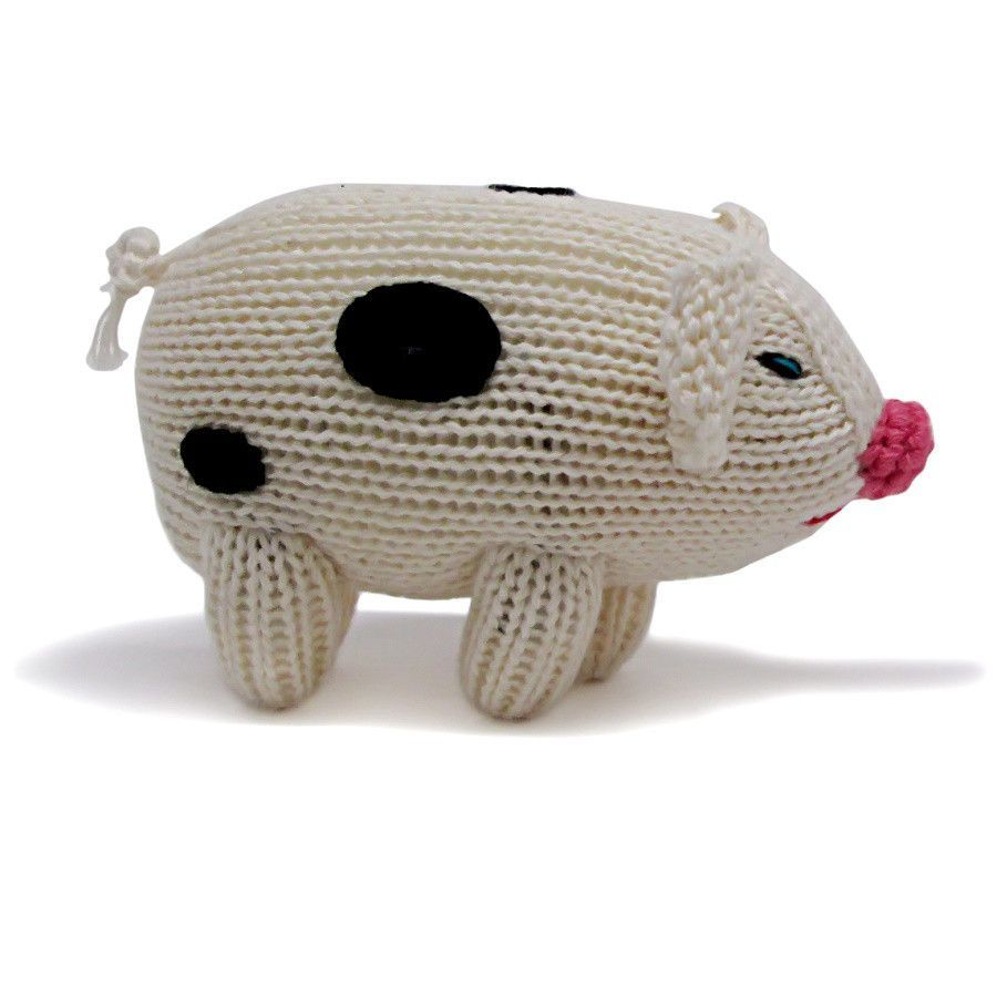 Organic Pig Rattle Baby Toy Baby Toys Organic And Toy