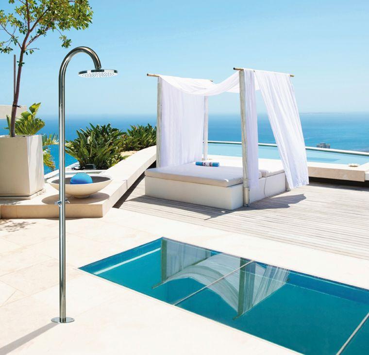 Indoor-Outdoor shower columns OKI Floor by Bossini Bossini Spa ...