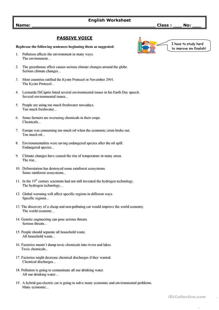 Worksheets Active And Passive Voice 1000 Que Worksheet passive voice environment grammar pinterest english lessons worksheet free esl printable worksheets made by teachers