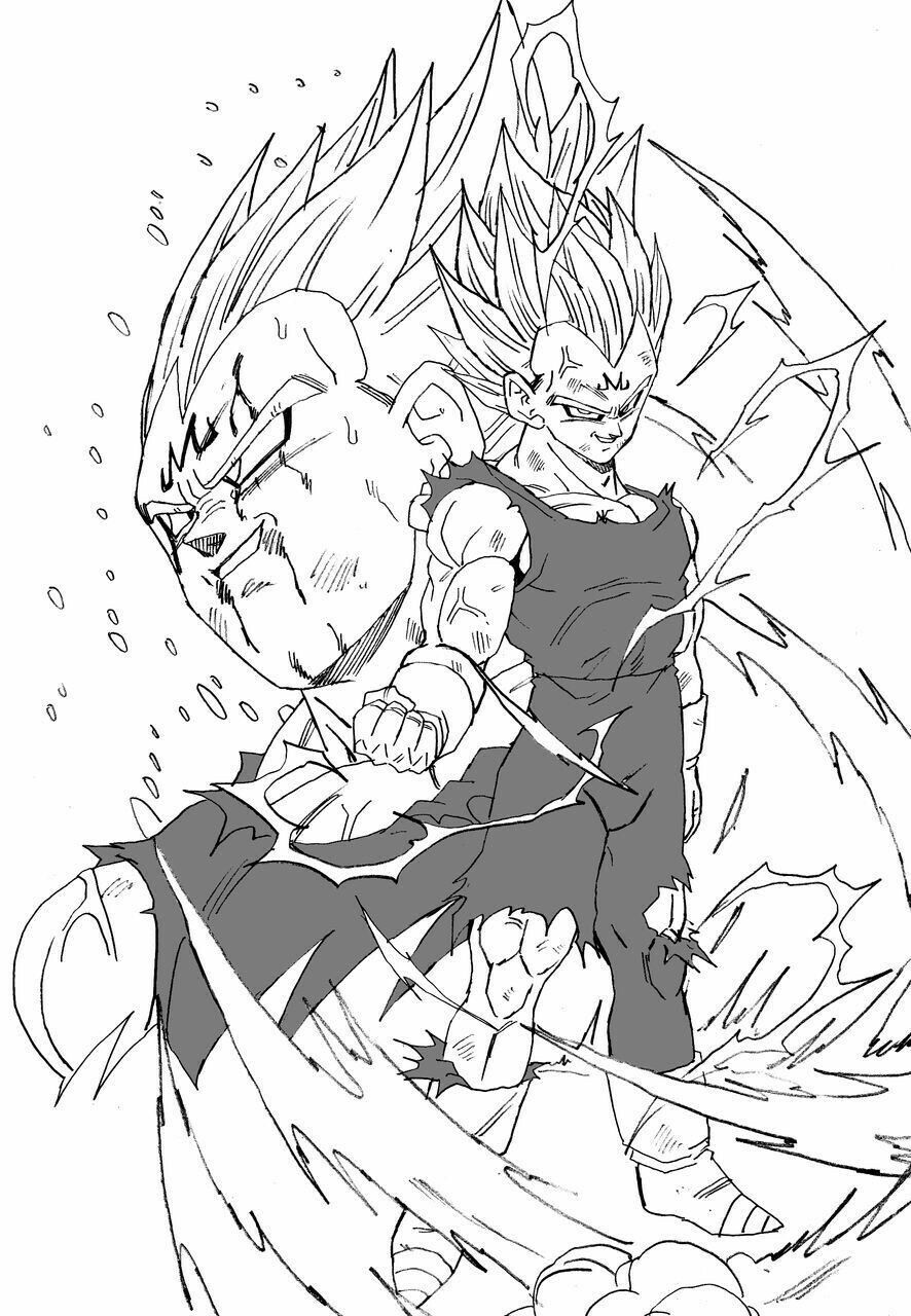 Majin Vegeta Dragon Ball Dessin Dessiner Dragon Ball Z