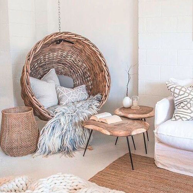 Photo of Braided baskets provide interior goals
