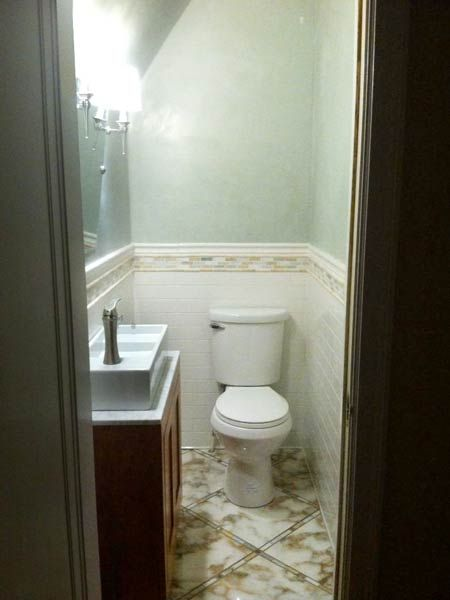 Best Powder Room Before And Afters 2013 Small Half Bathrooms