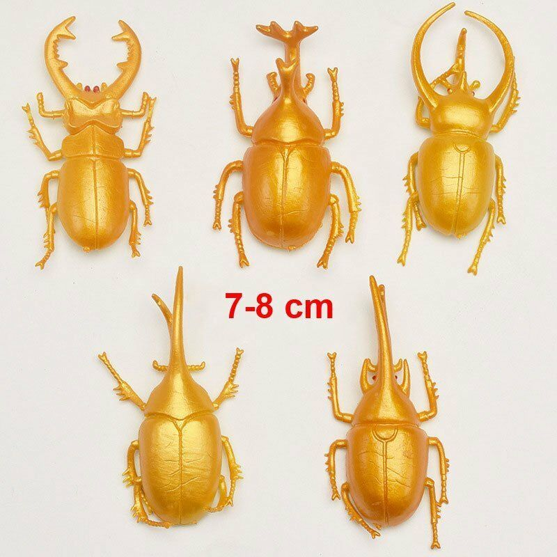 10x Plastik Insekt Spinne Fliege Ameise Schlange Streich Unfug