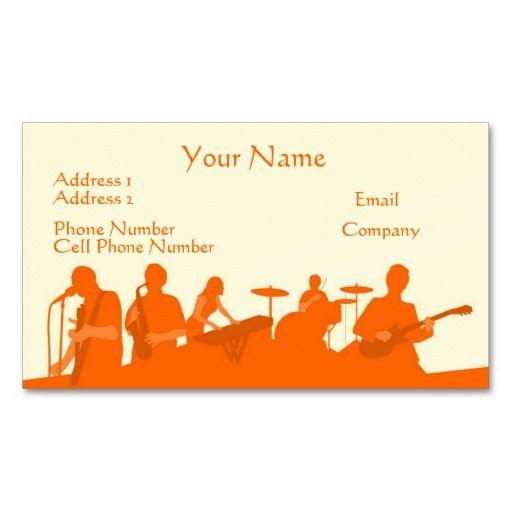 Music business card orange rock band music themed business card music business card orange rock band colourmoves