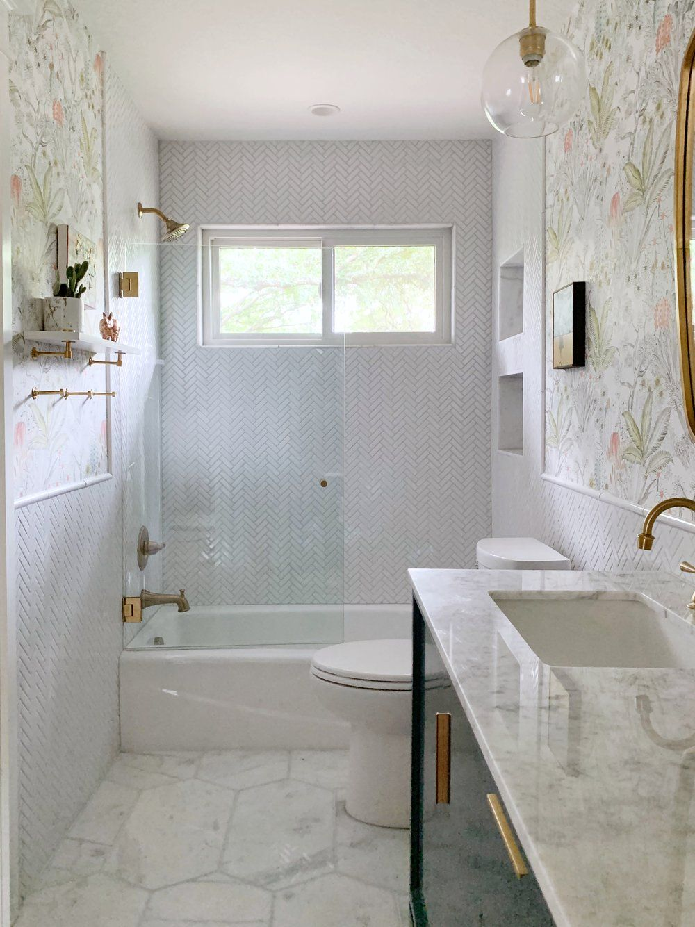 Girl S Bathroom Reveal One Room Challenge Spring 2019 Kristin Laing Design In 2020 Girls Bathroom Bathrooms Remodel Small Bathroom