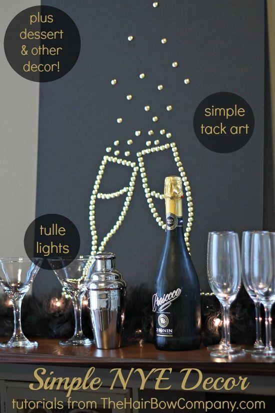 Simple Budget Friendly Nye Decorations Nye Decorations New Years Eve Decorations New Year Diy