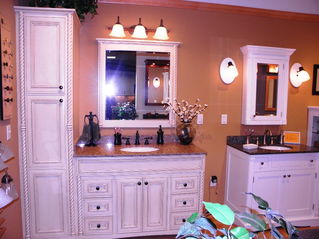 White Wooden Wall Mount Medicine Cabinet On Beige Painted Wall Among Fancy  Wall Lights Above White Wooden Bath Vanity As Well As The Medicine Cabinet  Plus ...