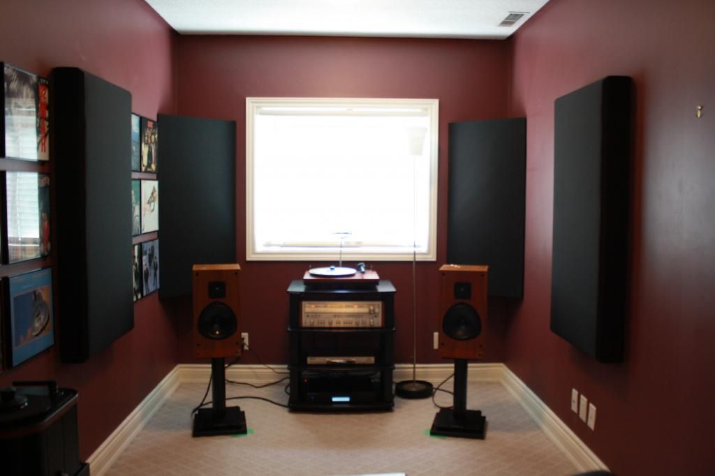 Listening Room Installed Acoustic Panels