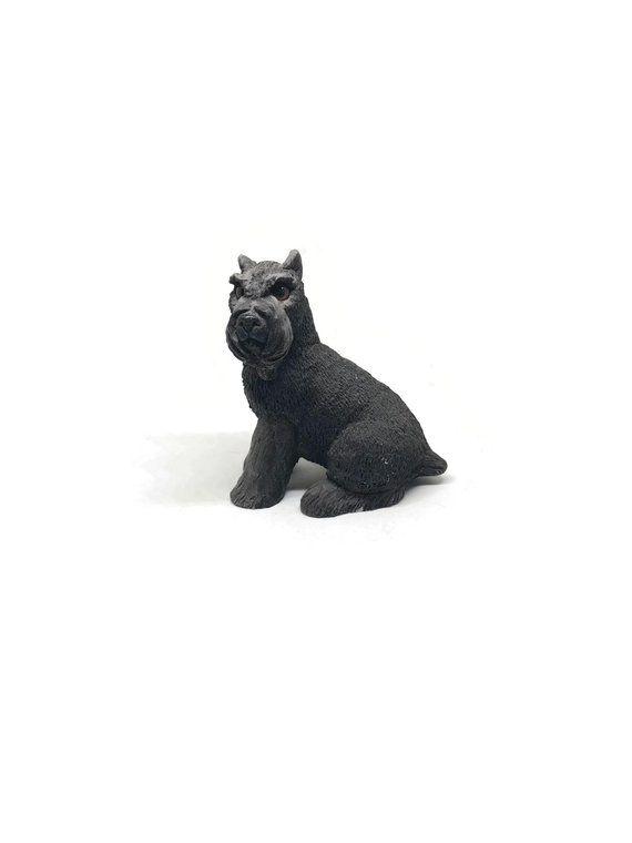 figurine schnauzer Black miniature