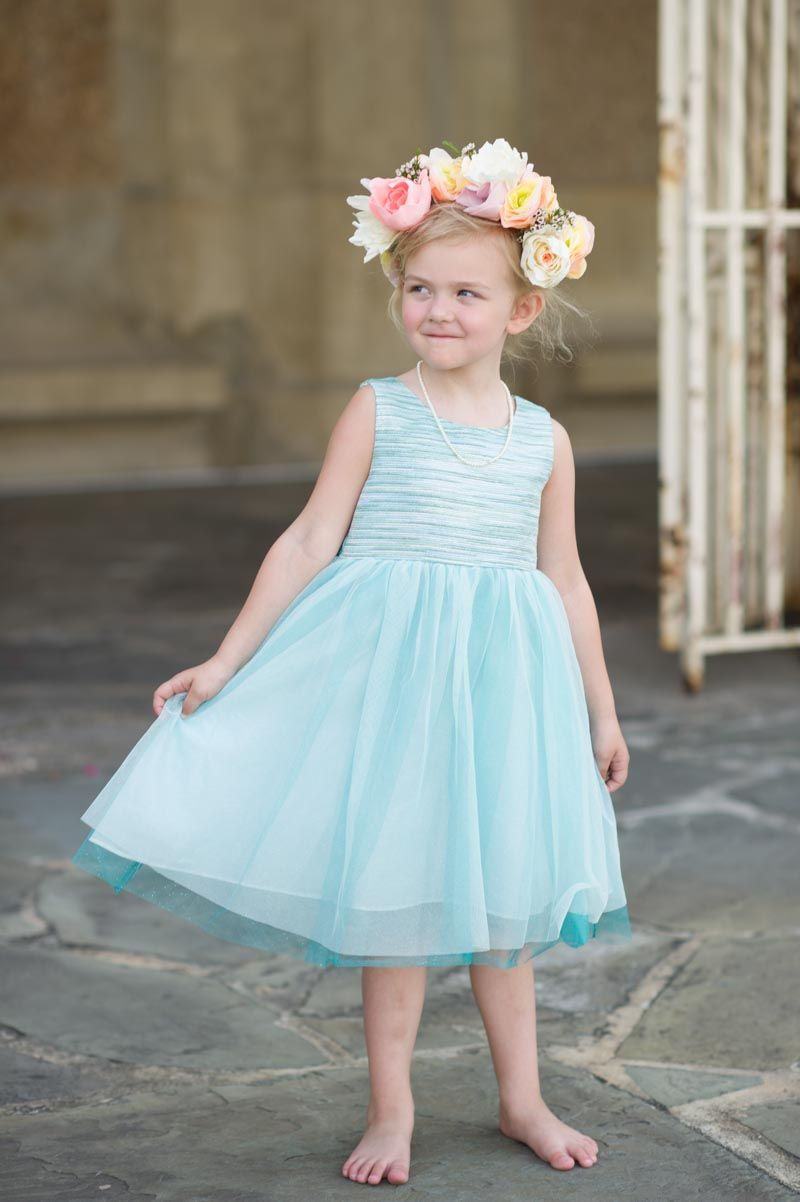 Travel Inspired Lakeland Wedding | Blue flower girl dresses, Flower ...