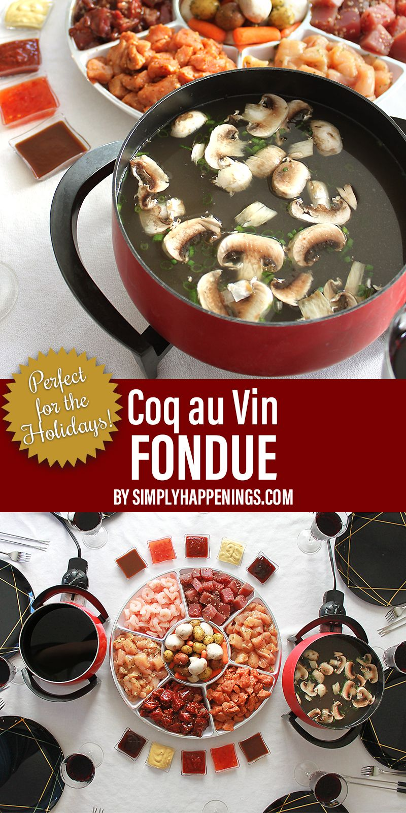 Coq Au Vin Fondue In 2020 Fondue Recipes Meat Melting Pot Recipes Coq Au Vin