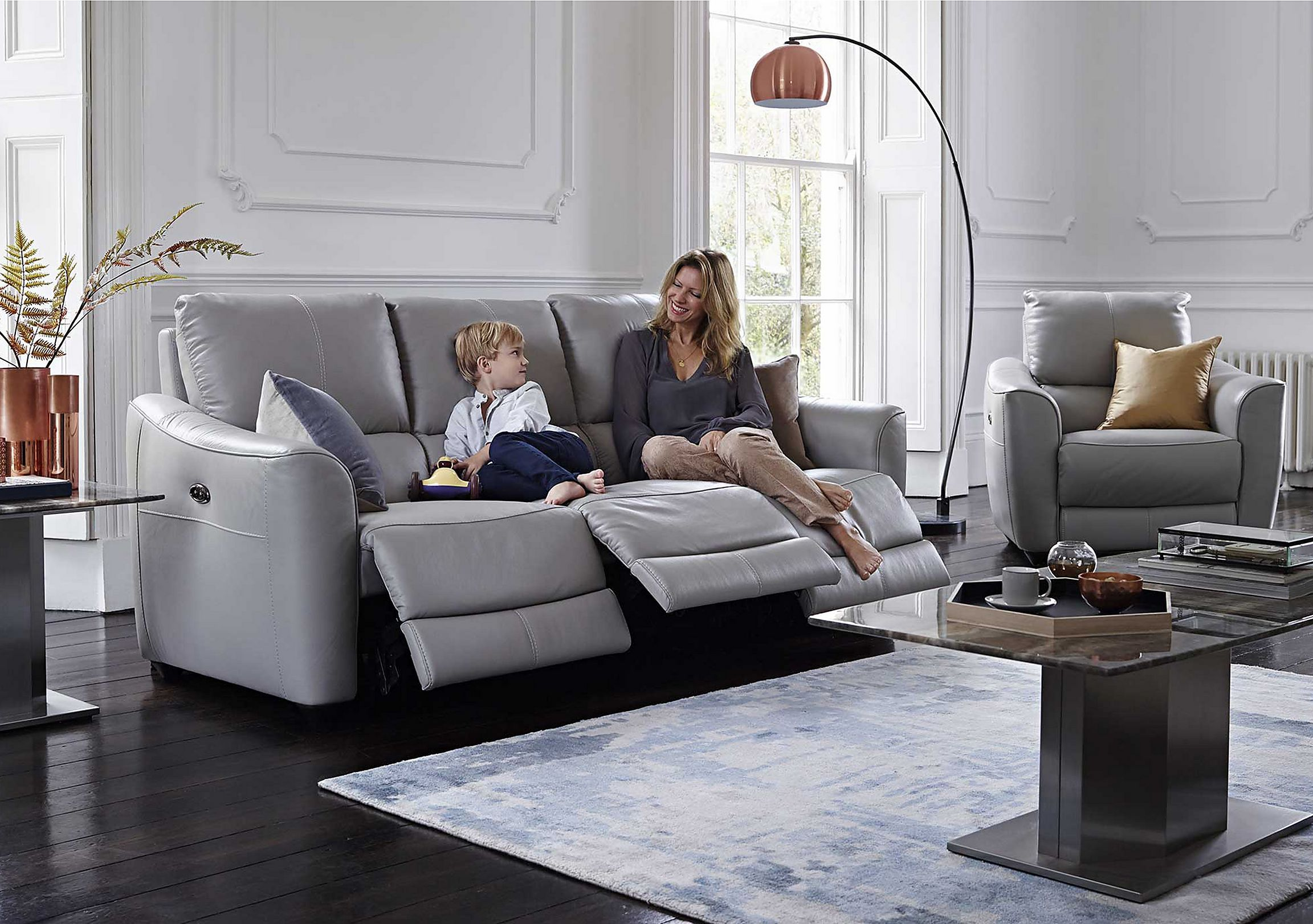 Trilogy 3 Seater Leather Recliner Sofa