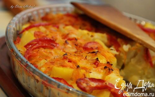 запеканка и картофеля и цветной капусты