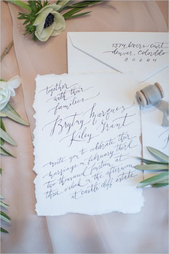 Find This Pin And More On Invitations U0026 Paper By Weddingchicks. This Hand  Written Wedding ...